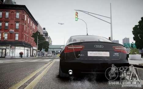 Audi A6L para GTA 4 traseira esquerda vista