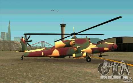 Hunter Armee Look para GTA San Andreas traseira esquerda vista