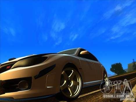 Subaru Impreza WRX 2008 Tunable para GTA San Andreas vista direita