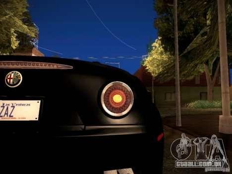 Alfa Romeo 8C Spider 2012 para vista lateral GTA San Andreas