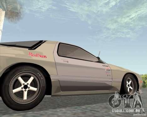 Mazda Savanna RX-7 FC3S para GTA San Andreas vista traseira
