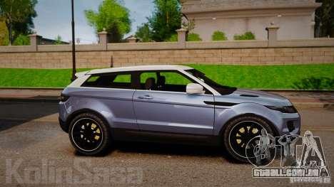 Range Rover Evoque para GTA 4 esquerda vista