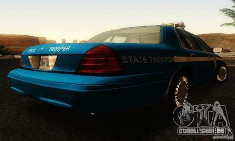 Ford Crown Victoria Wisconsin Police para GTA San Andreas esquerda vista