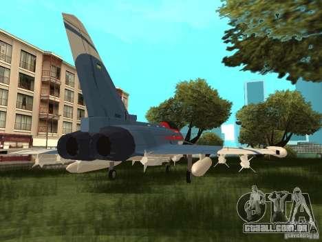 Eurofighter Typhoon para GTA San Andreas esquerda vista