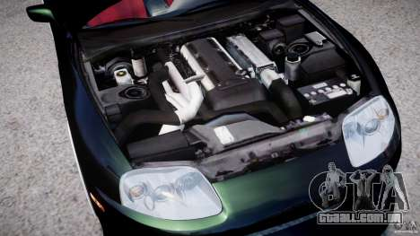 Toyota Supra JZA80 para GTA 4 vista de volta