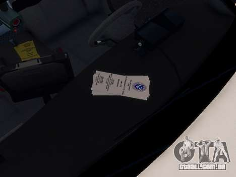 Ford Crown Victoria Homeland Security para GTA 4 vista interior
