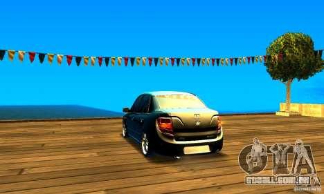 Lada Granta v2.0 para GTA San Andreas traseira esquerda vista