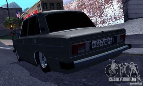 VAZ 2106 Hobo para GTA San Andreas vista direita