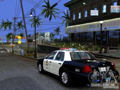 Ford Crown Victoria LAPD [ELS] para GTA 4 esquerda vista