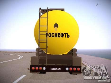 Reboque para Mercedes-Benz Actros Rosneft para GTA San Andreas esquerda vista