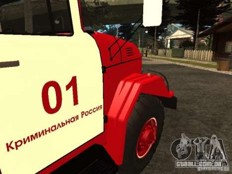 ZIL-131 fogo para GTA San Andreas vista interior