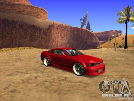 Ford Mustang GT 2005 Tuned para GTA San Andreas esquerda vista