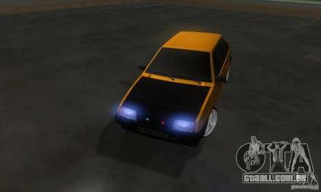 VAZ 2109 luz Tuning para GTA San Andreas vista interior