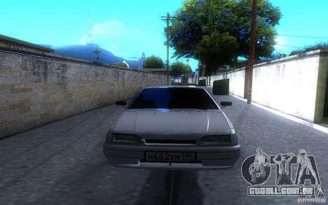 ВАЗ 2114 LT para GTA San Andreas vista traseira