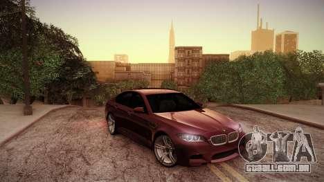 BMW M5 F10 para GTA San Andreas vista superior