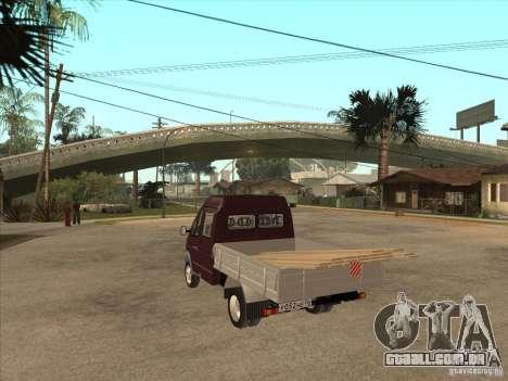GÁS 33023 para GTA San Andreas traseira esquerda vista
