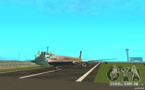 Boeing 777-300ER para GTA San Andreas traseira esquerda vista