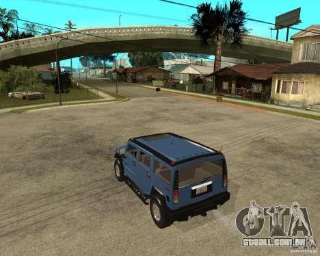AMG H2 HUMMER para GTA San Andreas esquerda vista