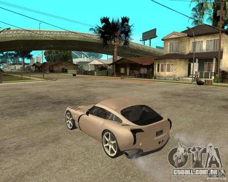 TVR Sagaris para GTA San Andreas esquerda vista