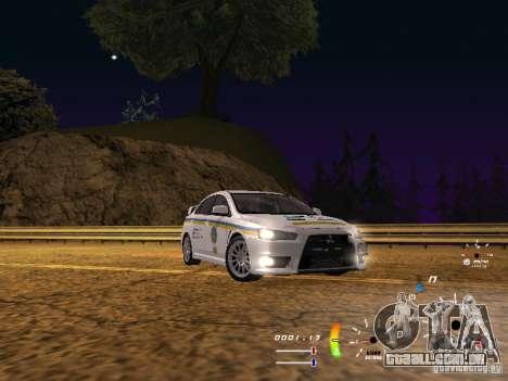 Mitsubishi Lancer Evolution X DPS para GTA San Andreas traseira esquerda vista