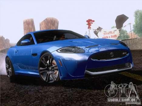 Jaguar XKR-S 2011 V2.0 para GTA San Andreas vista traseira