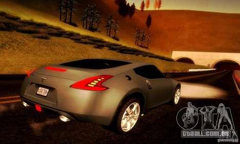 Nissan 370Z V2 para GTA San Andreas traseira esquerda vista