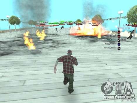 SA:MP 0.3d para GTA San Andreas quinto tela