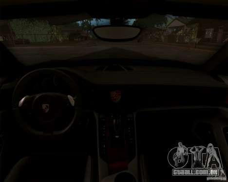 Porsche Panamera Turbo 2010 Final para GTA San Andreas traseira esquerda vista