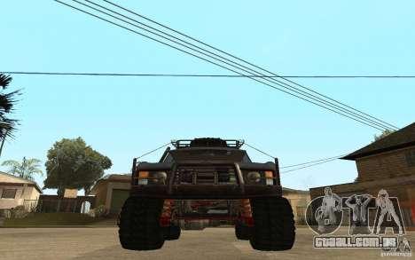 Range Rover Off Road para GTA San Andreas traseira esquerda vista