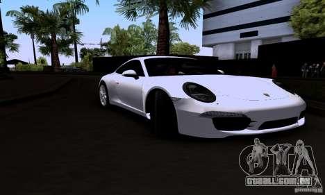 Porsche 911 Carrera S para GTA San Andreas traseira esquerda vista