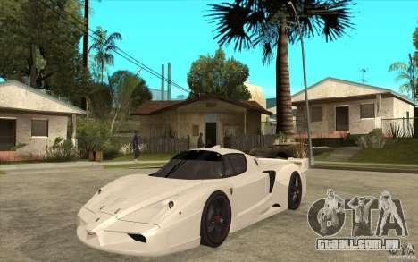 Ferrari FXX 2005 para GTA San Andreas esquerda vista