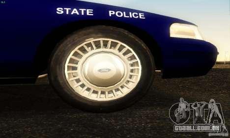Ford Crown Victoria Masachussttss Police para GTA San Andreas vista direita