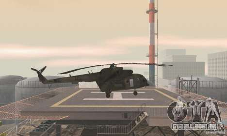 MI-17 para GTA San Andreas traseira esquerda vista