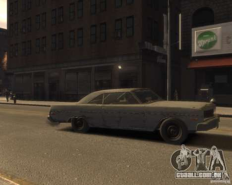 1975 Dodge Dart Rust para GTA 4 vista direita