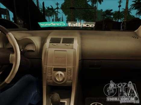 Scion tC 2012 para GTA San Andreas vista traseira