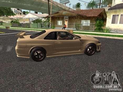 Nissan Skyline Z-Tune para GTA San Andreas traseira esquerda vista