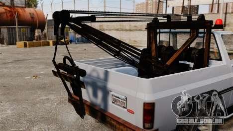 Rancher Tow Truck ELS para GTA 4 vista de volta