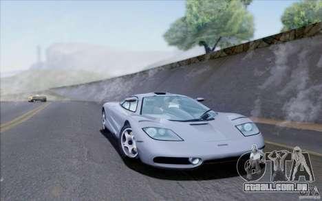 McLaren F1 Clinic 1992 para GTA San Andreas