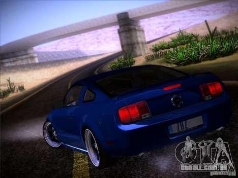 Ford Mustang GT 2005 para vista lateral GTA San Andreas