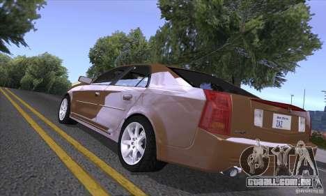Cadillac CTS-V para GTA San Andreas vista traseira