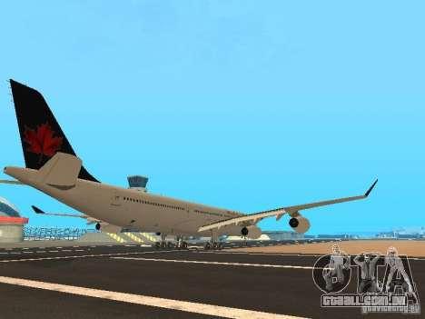 Airbus A340-300 Air Canada para GTA San Andreas vista direita