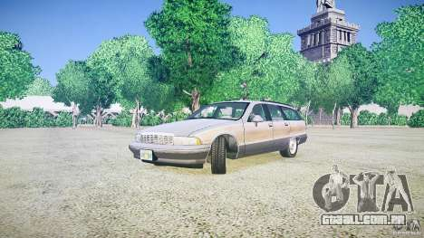 Chevrolet Caprice Civil 1992 v1.0 para GTA 4 vista direita