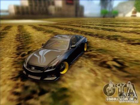 Infiniti G37 HellaFlush para GTA San Andreas traseira esquerda vista