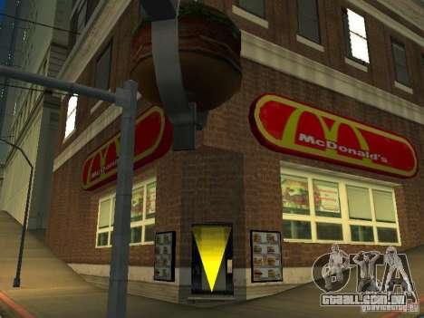 Mc Donalds para GTA San Andreas terceira tela