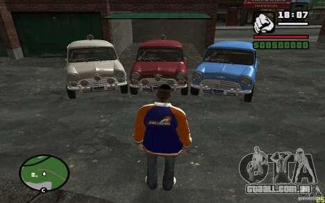 Mini Cooper S para GTA San Andreas traseira esquerda vista