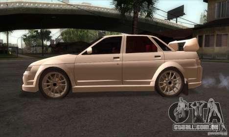 WRC VAZ 2110 para GTA San Andreas esquerda vista