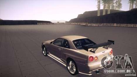 Nissan Skyline R34 para o motor de GTA San Andreas