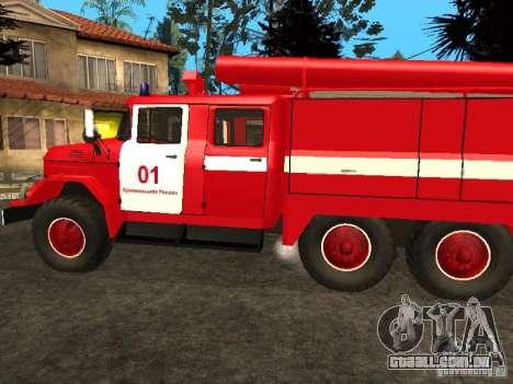 ZIL-131 fogo para GTA San Andreas vista direita
