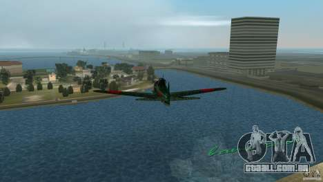 Zero Fighter Plane para GTA Vice City vista interior