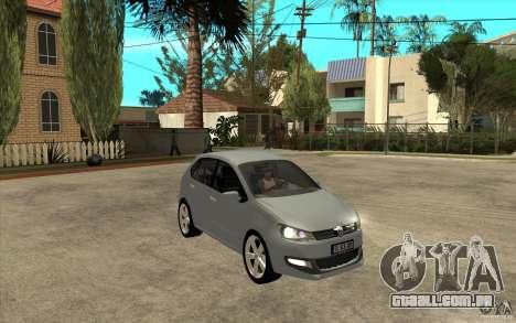 Volkswagen Polo 2011 para GTA San Andreas vista traseira
